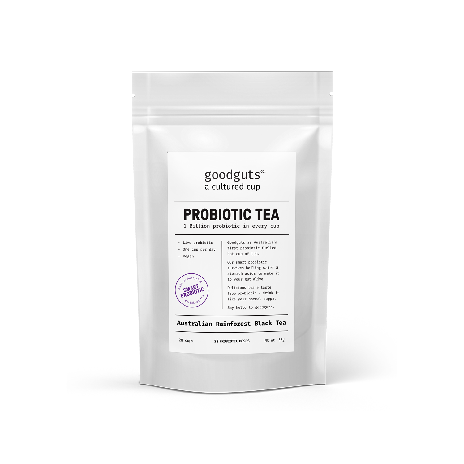 Goodguts Probiotic Australian Rainforest Black Tea