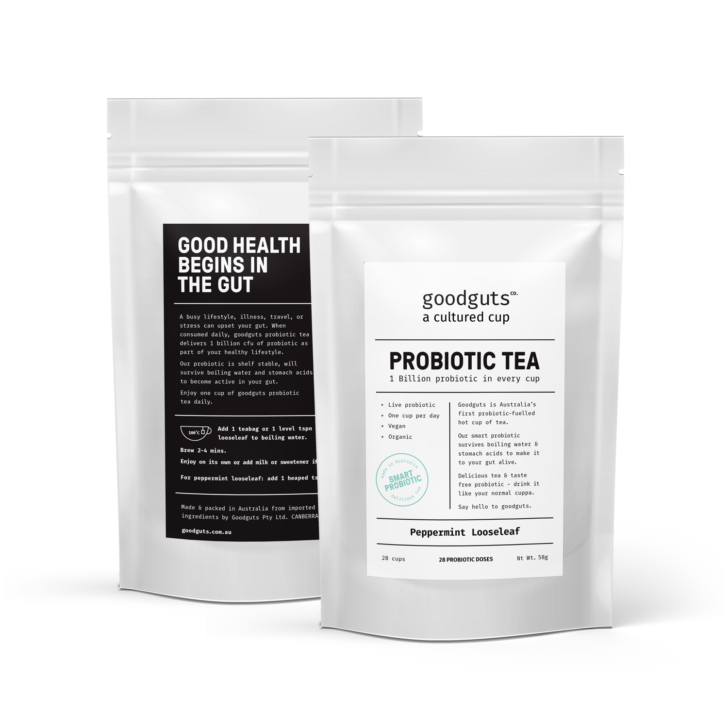 Goodguts Probiotic Looseleaf Peppermint Tea