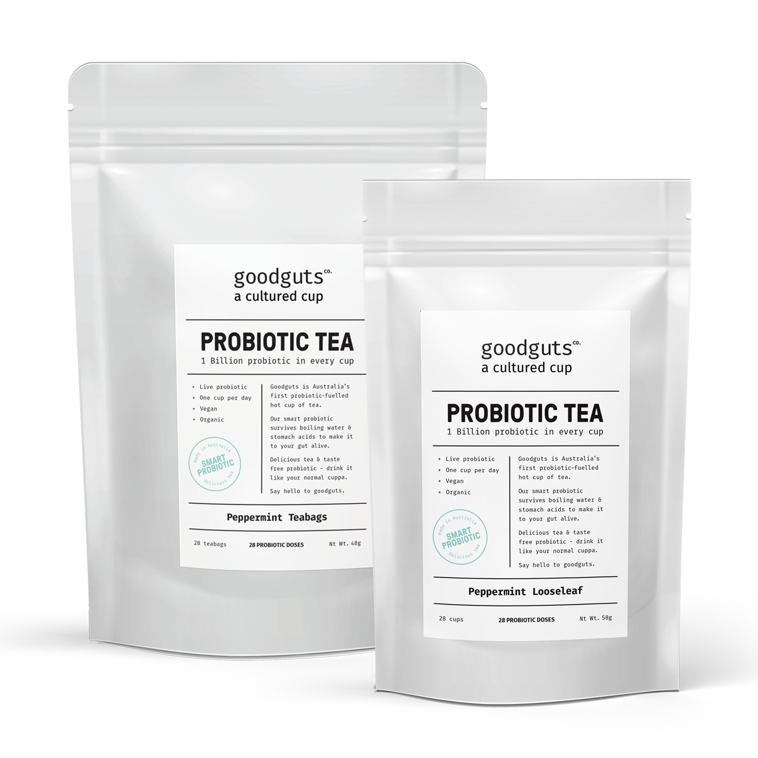 Goodguts Probiotic Peppermint Tea